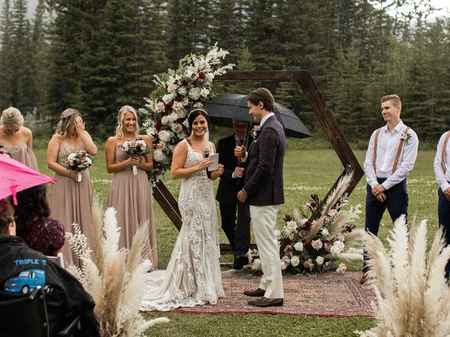 Dysin and Brittney's wedding in Canmore, Alberta 139