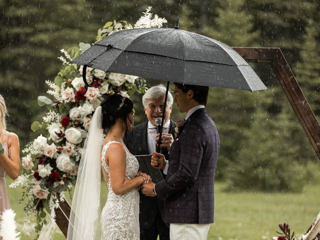Dysin and Brittney's wedding in Canmore, Alberta 142