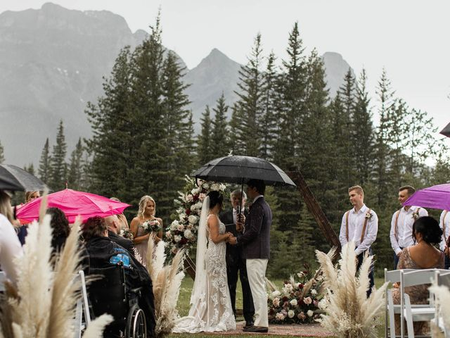 Dysin and Brittney's wedding in Canmore, Alberta 143