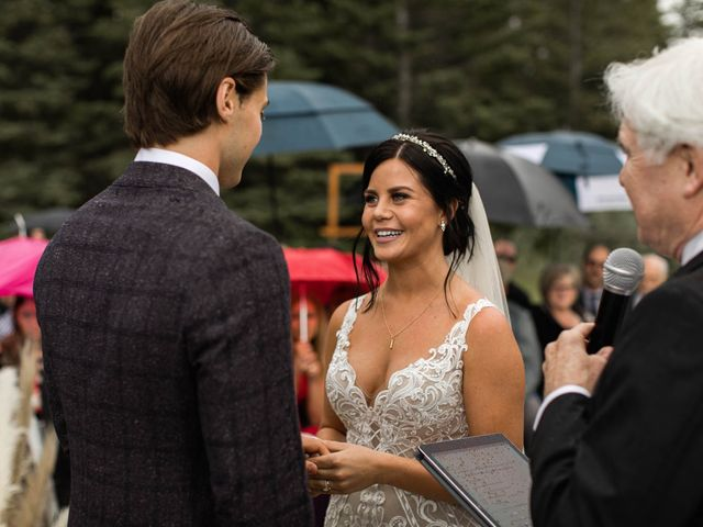 Dysin and Brittney's wedding in Canmore, Alberta 147