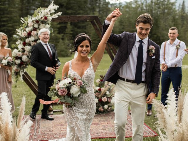 Dysin and Brittney's wedding in Canmore, Alberta 155