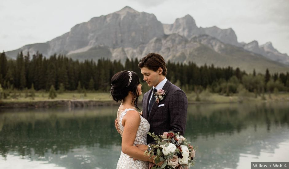 Dysin and Brittney's wedding in Canmore, Alberta
