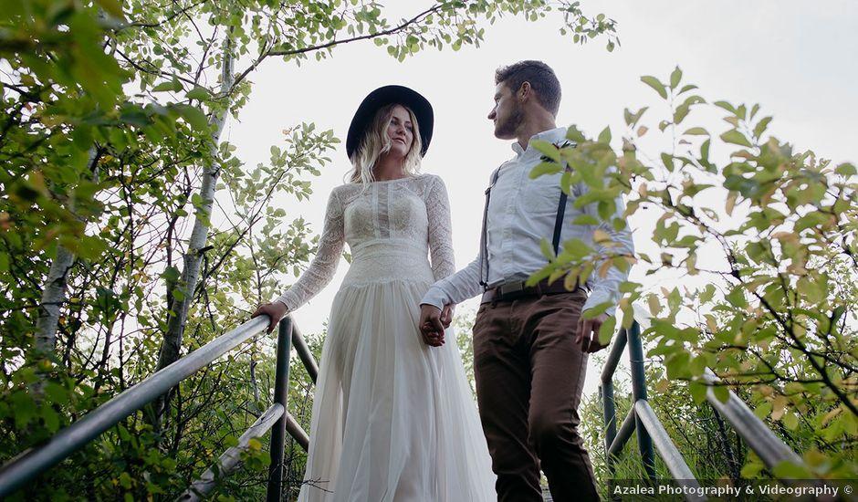 Cody and Tiana's wedding in Fort Qu'Appelle, Saskatchewan