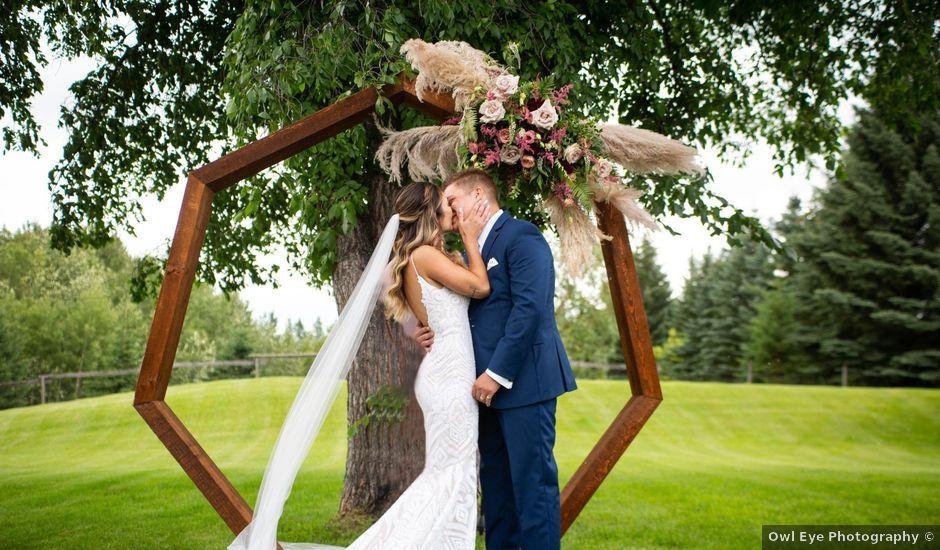 Kurtis and Bri's wedding in Calahoo, Alberta