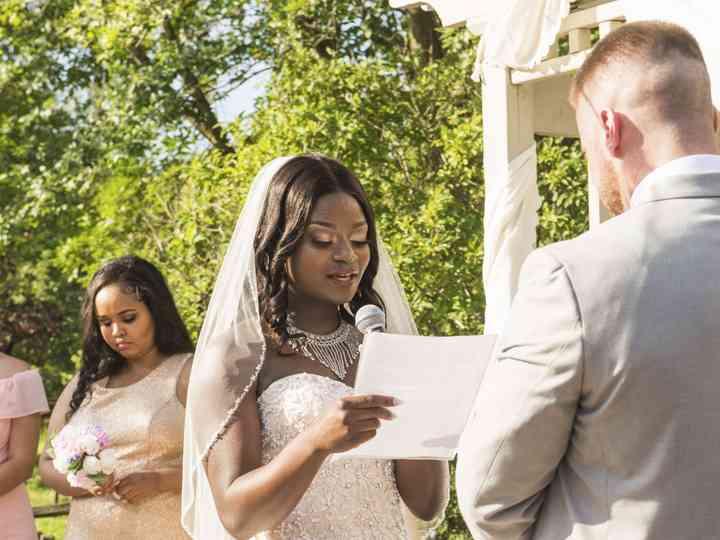 The wedding of Abibatu and Andrew