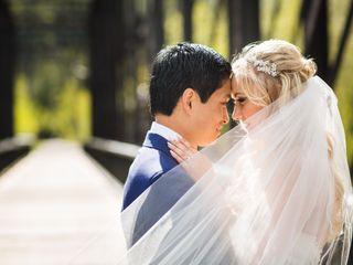 The wedding of Vanessa and David