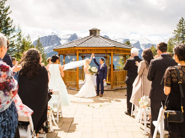 David and Vanessa's wedding in Canmore, Alberta 32