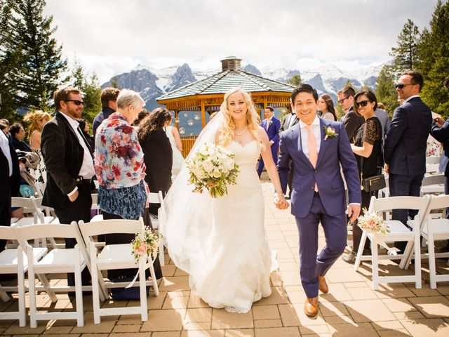 David and Vanessa's wedding in Canmore, Alberta 33