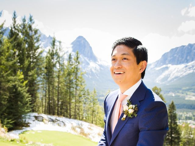 David and Vanessa's wedding in Canmore, Alberta 37