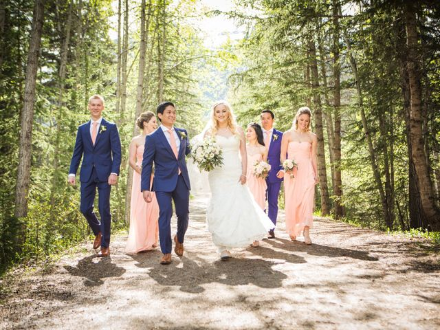 David and Vanessa's wedding in Canmore, Alberta 39