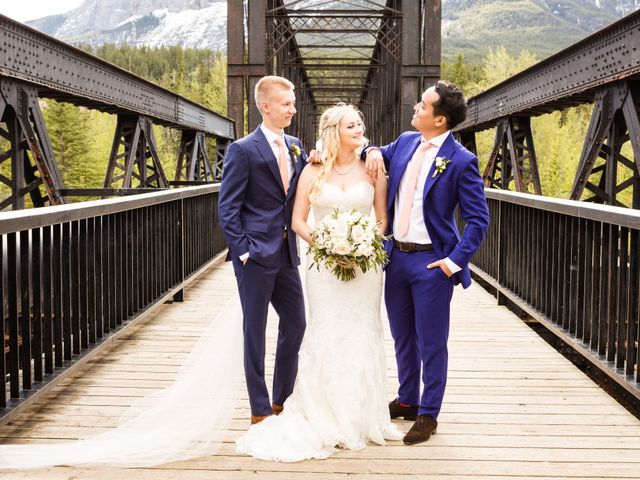 David and Vanessa's wedding in Canmore, Alberta 46