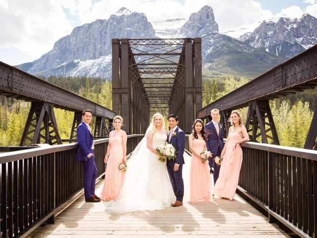 David and Vanessa's wedding in Canmore, Alberta 63