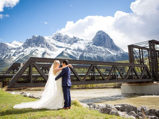 David and Vanessa's wedding in Canmore, Alberta 67