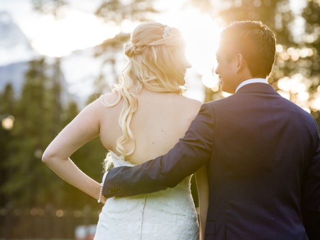 David and Vanessa's wedding in Canmore, Alberta 71