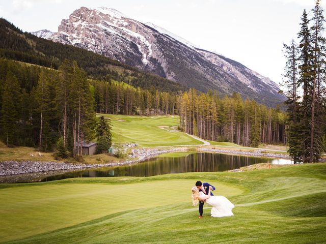 David and Vanessa's wedding in Canmore, Alberta 78