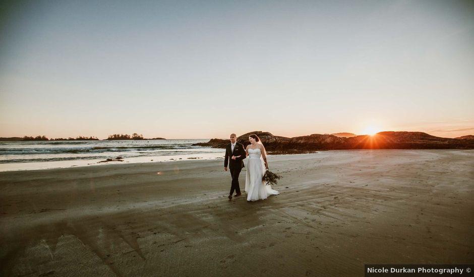 Jason and Mia's wedding in Tofino, British Columbia