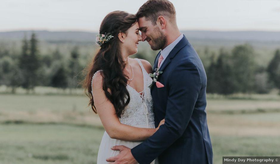 David and Pascale's wedding in Scotsburn, Nova Scotia