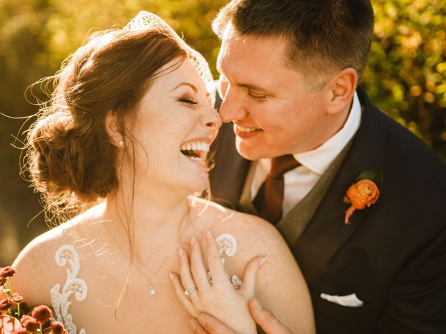 The wedding of Chantell and James