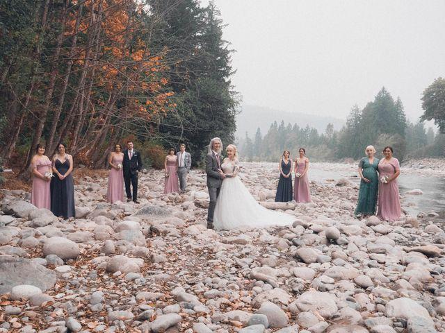 James and Ebony 's wedding in Hope, British Columbia 2