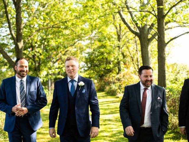 Emily and Mike's wedding in Roseneath, Ontario 9