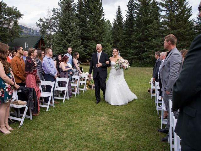 Robbie and Chelsea's wedding in Canmore, Alberta 16