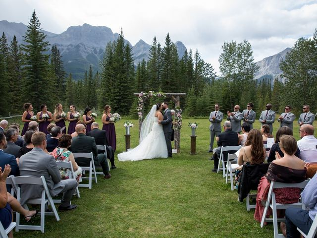 Robbie and Chelsea's wedding in Canmore, Alberta 1