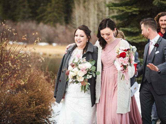 Victor and Kristine's wedding in Canmore, Alberta 4