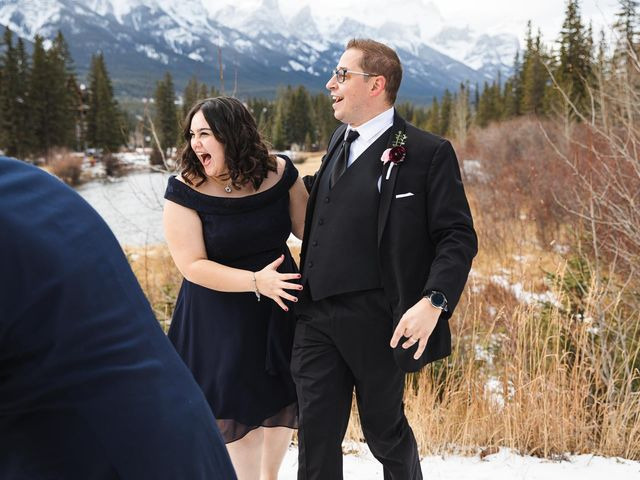 Victor and Kristine's wedding in Canmore, Alberta 5