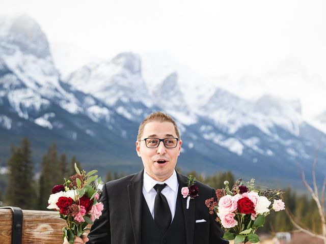 Victor and Kristine's wedding in Canmore, Alberta 6