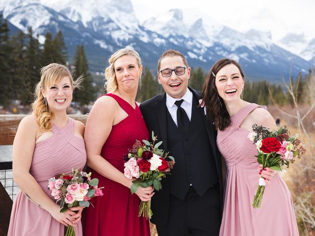Victor and Kristine's wedding in Canmore, Alberta 8
