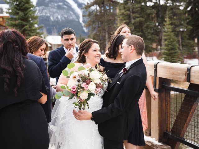 Victor and Kristine's wedding in Canmore, Alberta 10