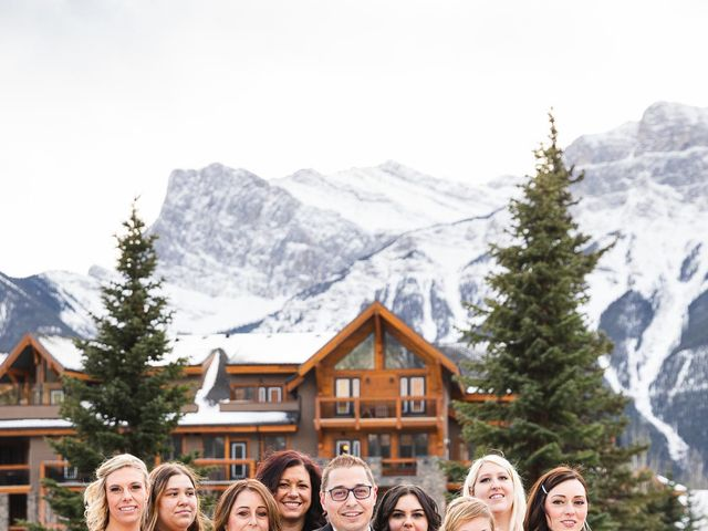 Victor and Kristine's wedding in Canmore, Alberta 11