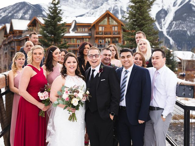 Victor and Kristine's wedding in Canmore, Alberta 12
