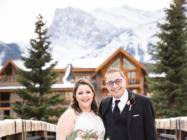 Victor and Kristine's wedding in Canmore, Alberta 14
