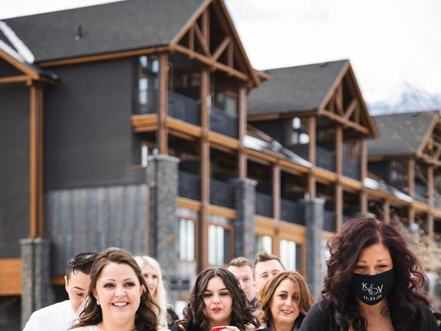 Victor and Kristine's wedding in Canmore, Alberta 15