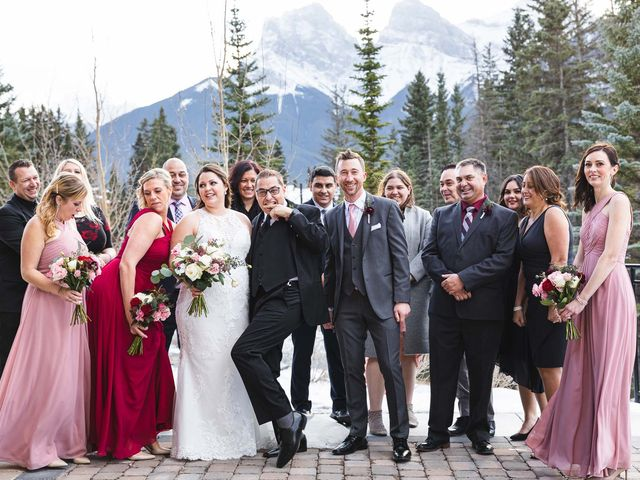 Victor and Kristine's wedding in Canmore, Alberta 22