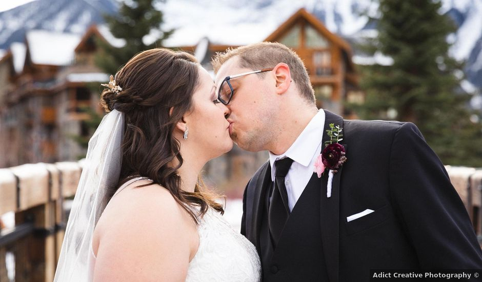 Victor and Kristine's wedding in Canmore, Alberta