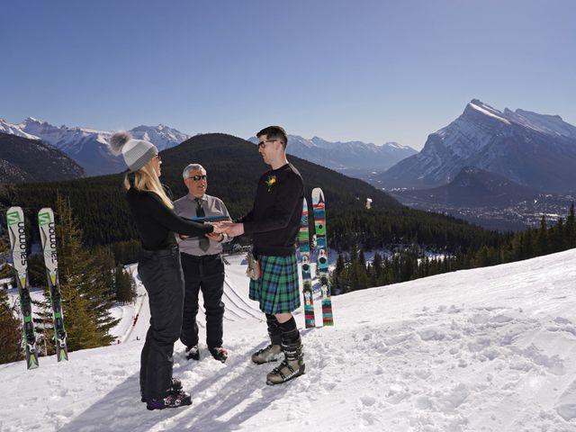 Stuart and Sarah's wedding in Banff, Alberta 6