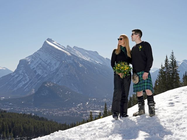 Stuart and Sarah's wedding in Banff, Alberta 7
