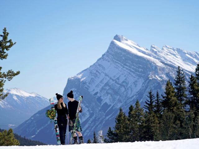 Stuart and Sarah's wedding in Banff, Alberta 13
