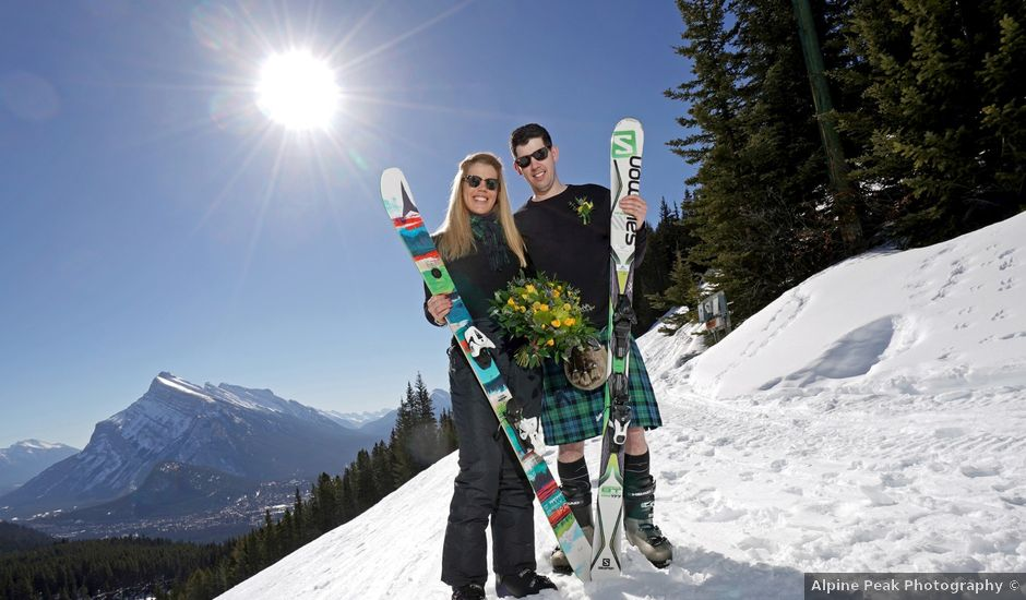 Stuart and Sarah's wedding in Banff, Alberta