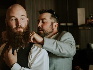 The wedding of Leslie and Dustin 1