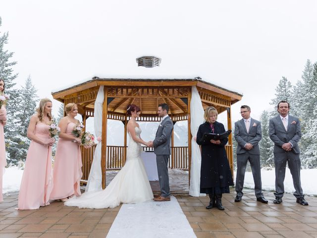 Zack and Laura's wedding in Canmore, Alberta 10
