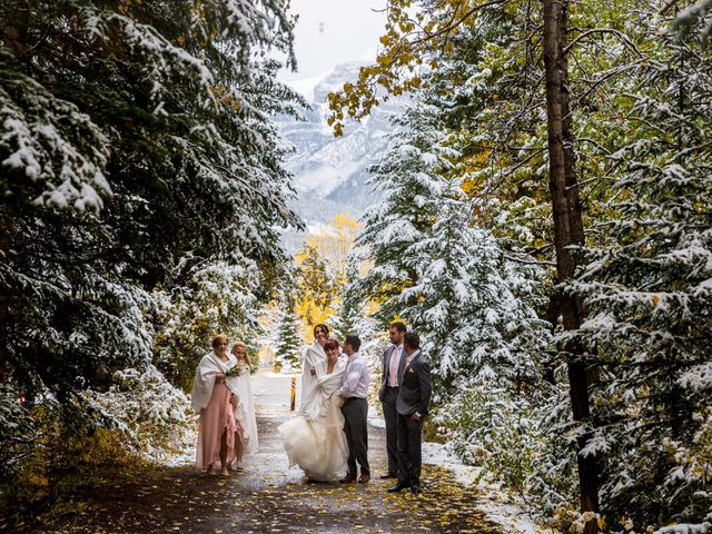 Zack and Laura's wedding in Canmore, Alberta 11