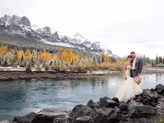 Zack and Laura's wedding in Canmore, Alberta 12