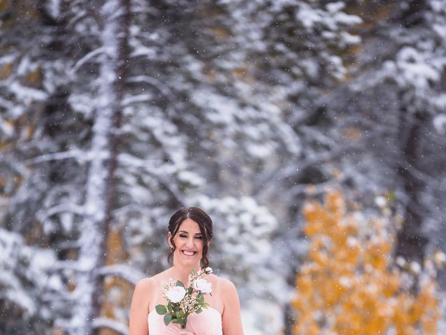 Zack and Laura's wedding in Canmore, Alberta 13