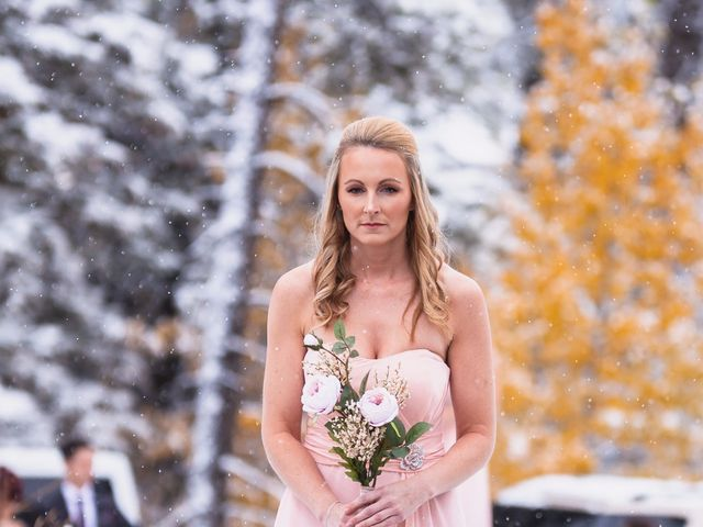 Zack and Laura's wedding in Canmore, Alberta 14