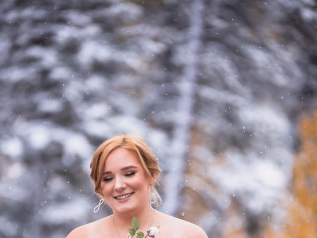 Zack and Laura's wedding in Canmore, Alberta 15