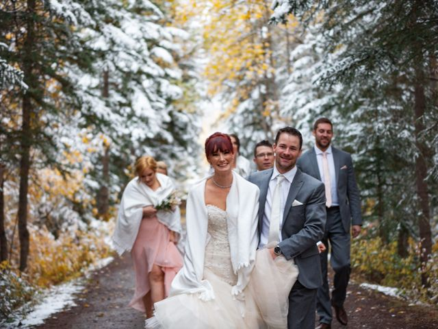 Zack and Laura's wedding in Canmore, Alberta 20