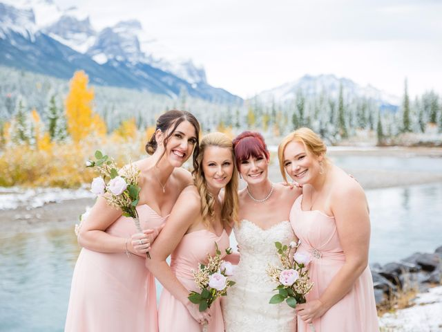 Zack and Laura's wedding in Canmore, Alberta 36